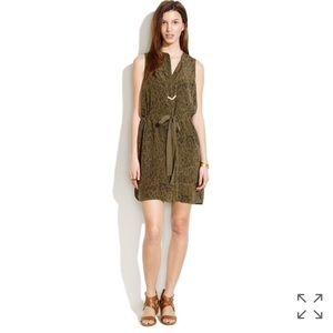 • Madewell • Silk Playa Dress in Leopard Fade XS